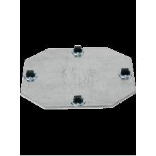 Wheelplates Fixed Castor 4 x 8 mm (max. 45 kg. load capacity)