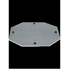 Wheelplates Fixed Castor 4 x 8 mm (45 kg. max load capacity)