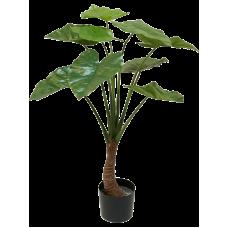 Алоказия дерево в кашпо / Alocasia растение искусственное