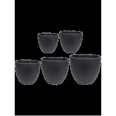 Ace Pot Black (set of 5)