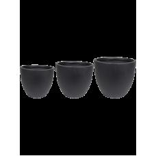 Ace Pot Black (set of 3)