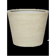Cement Bucket M Beige Washed