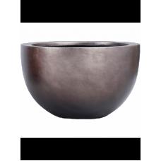 Metallic Silver leaf Bowl matt coffee