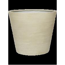 Cement Bucket L Beige Washed