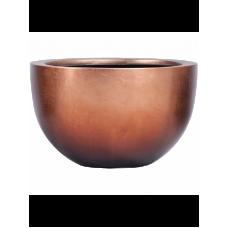 Metallic Silver leaf Bowl matt copper