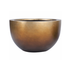 Metallic Silver leaf Bowl matt honey