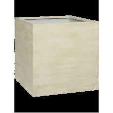 Cement Block L Vertical Beige Washed