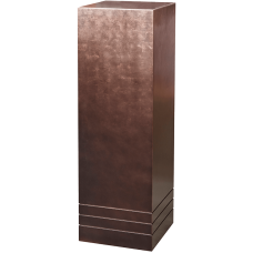 Pedestal (metallic) Pedestal wood matt coffee