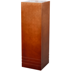 Pedestal (metallic) Pedestal wood matt copper
