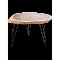 Meubilair Coffee table acacia wood, iron legs (100-110 cm)