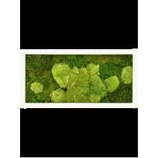 Stiel RAL 9010 mat 50% ball- and 50% flat moss