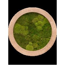 Rock 30% ball- and 70% flat moss