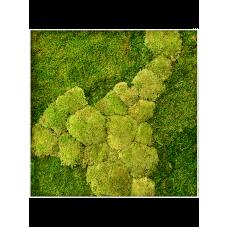 Stiel L RAL 9010 50% ball- and 50% flat moss