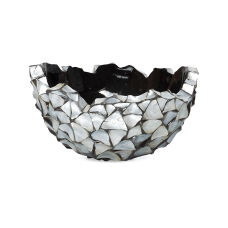 Shell Bowl Mother of pearl silver-blue