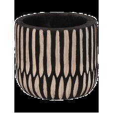D&M Indoor Pot Crude Black